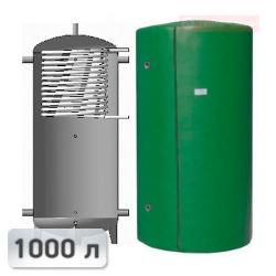 Акумуляційна ємність із теплообмінником із нержавііючої сталі Kuydych ЕАІ-10-1000 1000 л