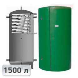 Акумуляційна ємність із теплообмінником із нержавііючої сталі Kuydych ЕАІ-10-1500 1500 л