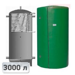 Акумуляційна ємність із теплообмінником із нержавііючої сталі Kuydych ЕАІ-10-3000 3000 л