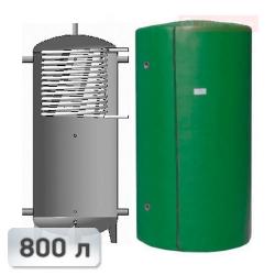 Акумуляційна ємність із теплообмінником із нержавііючої сталі Kuydych ЕАІ-10-800 800 л
