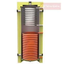 Акумулююча ємність із двома теплообмінниками із нержавіючої та чорної сталі KHT ЕАІ-11-750-X/Y без ізоляції