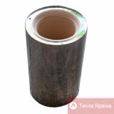 Труба керамічна 0,5 м з теплоізоляцією в оцинкованому кожусі