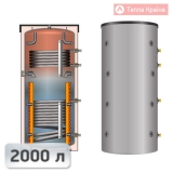 Теплоакумулятор Meibes SPSX-2G 2000 з двома теплообмінниками і стратифікаторами 2000 л