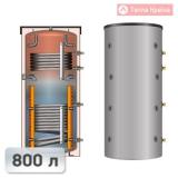 Теплоакумулятор Meibes SPSX-2G 800 з двома теплообмінниками і стратифікаторами 800 л