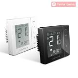 Цифровой термостат з екраном LCD Salus VS35, 230V, білий/чорний